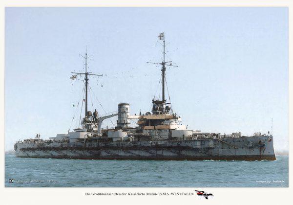 SMS Westfalen - ostatni z pancerników typu Nassau