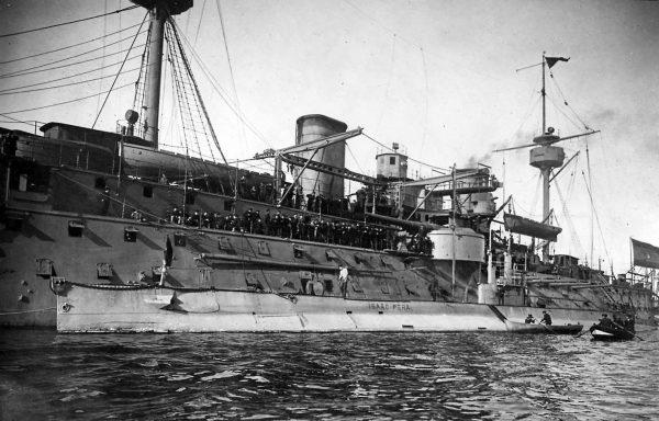 Pelayo i okręt podwodny Isaac Peral