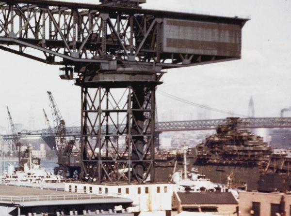 USS Franklin (CV-13) podczas remontu