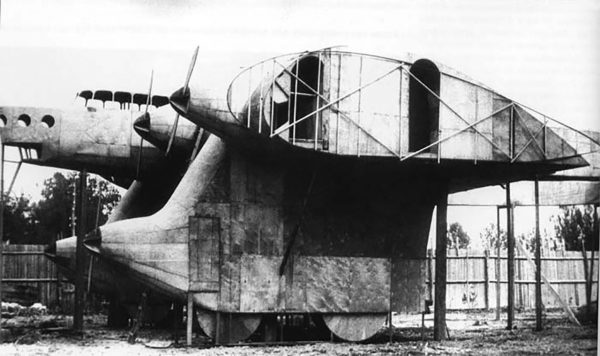 Makieta jednej z pierwszych wersji Kalinina K-7