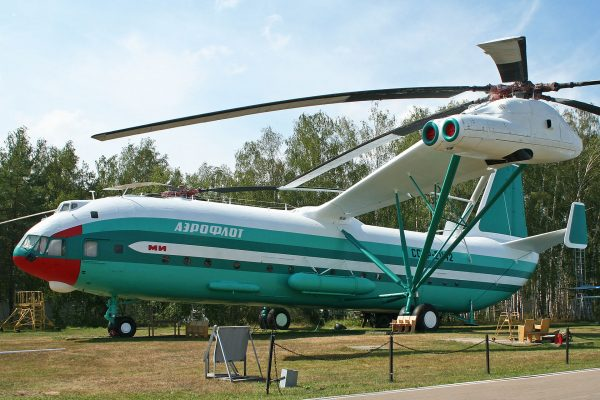 Drugi prototyp Mil W-12 (Mi-12) w muzeum w Monino (fot. Alan Wilson)