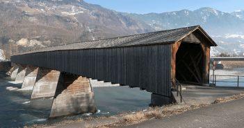 Alte Rheinbrücke Vaduz–Sevelen - ostatni drewniany most na Renie