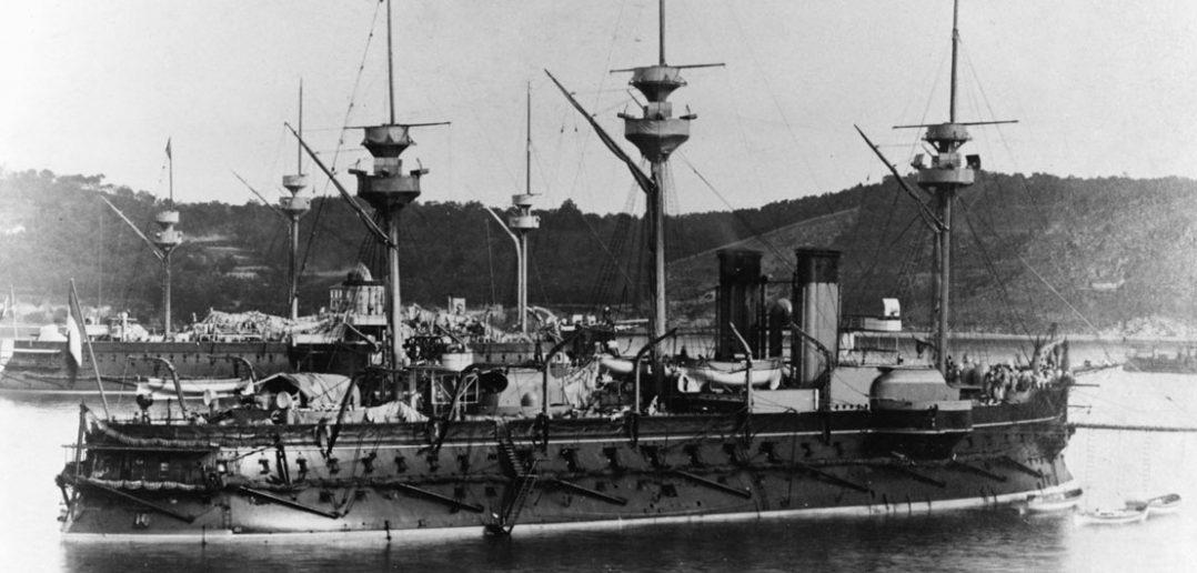 Amiral Duperré - pierwszy francuski pancernik barbetowy