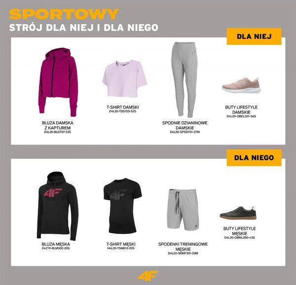 Sportowy strój