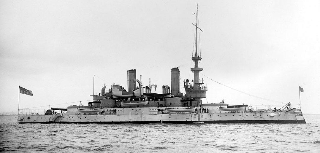 Pierwszy amerykański pancernik USS Indiana (BB-1)