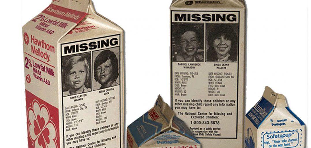 Zdjęcia zaginionych dzieci na kartonach z mlekiem - krótka historia