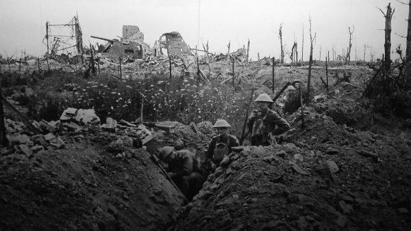 Brytyjskie pozycje podczas I wojny światowej
