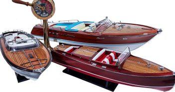 Prestiżowe drewniane modele łodzi motorowych