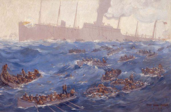 Zatonięcie USS President Lincoln (fot. Fred Dana Marsh)