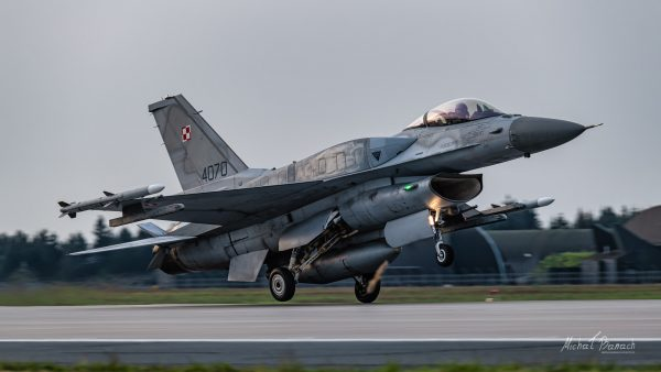 Lockheed Martin F-16C Jastrząb (4070) (fot. Michał Banach)