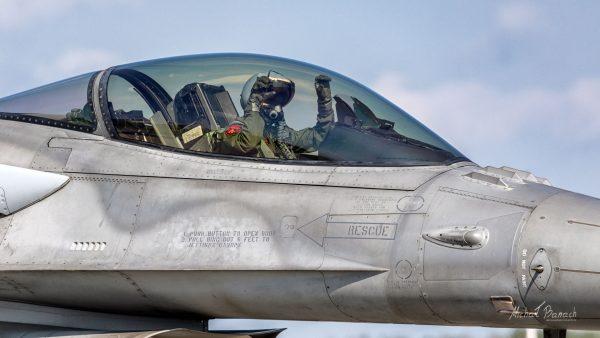 Lockheed Martin F-16C Jastrząb (4055) (fot. Michał Banach)