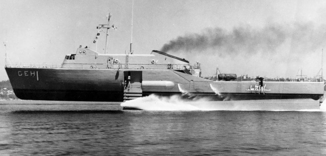 USS Plainview - pierwszy amerykański eksperymentalny wodolot