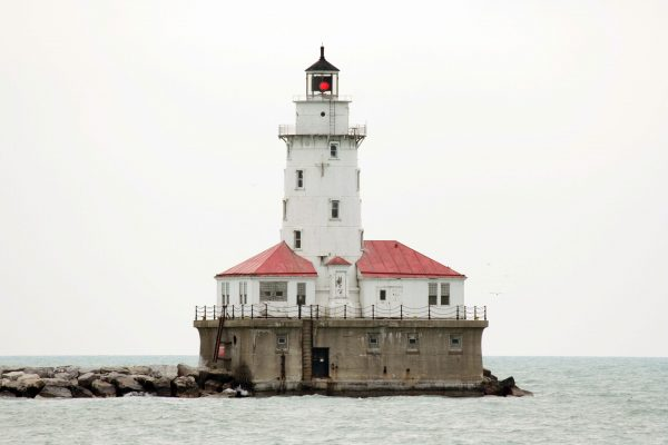 Chicago Harbor Light (fot. Jauerback/Wikimedia Commons)