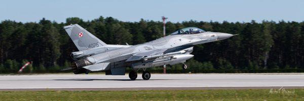 Lockheed Martin F-16C Jastrząb (4075) (fot. Michał Banach)