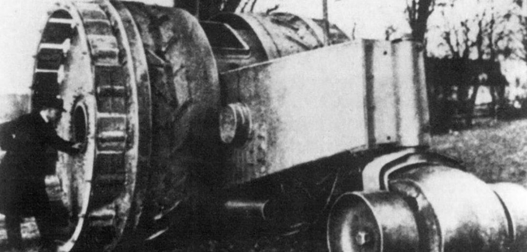 Eksperymentalny niemiecki czołg kołowy Treffas-Wagen