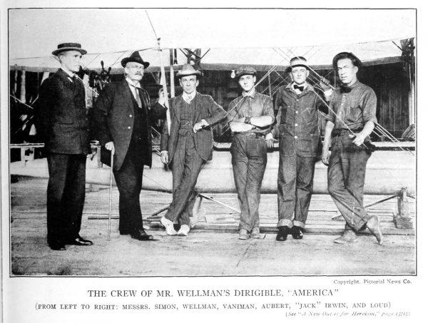 Załoga sterowca America w 1910 roku