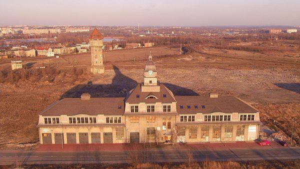 Ruiny Huty Metali Nieżelaznych Szopienice (fot. Superdronus/Wikimedia Commons)