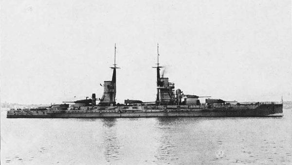 Prawdopodobnie Andrea Doria, jednak zdjęcie podpisywane jest czasami jako pancernik typu Conte di Cavour