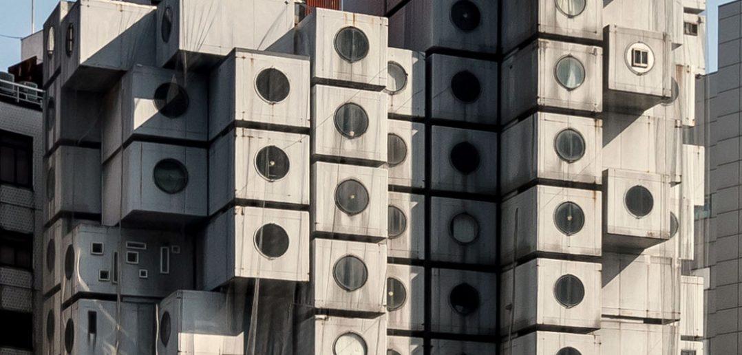 Nakagin Capsule Tower - czyli apartamentowiec z kapsułami mieszkalnymi