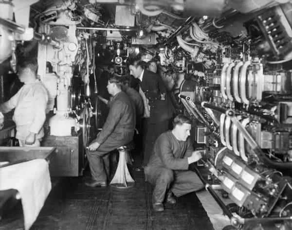 Wnętrze jednego z okrętów typu E