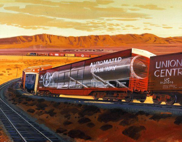 Wizja artystyczna pociągu Peacekeeper Rail Garrison