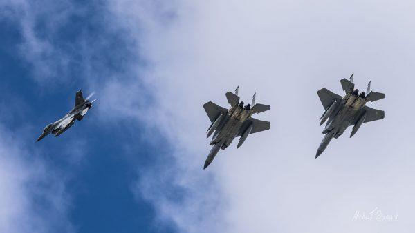 Lockheed Martin F-16 Jastrząb & McDonnell Douglas F-15 Eagle (fot. Michał Banach)