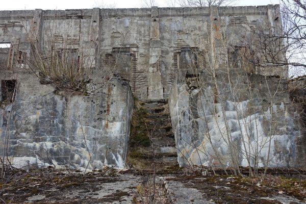 Ruiny budynku wykonanego z żelbetu (fot. Wolfmann/Wikimedia Commons)