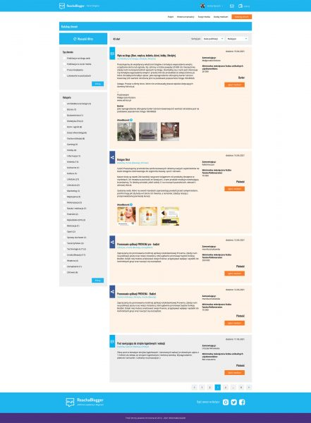 Katalog ogłoszeń reklamodawców na Reach a Blogger